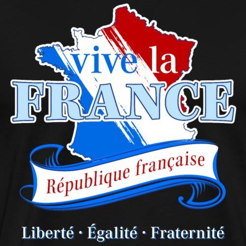 vive la France Frankreich République Française - Männer Premium T-Shirt