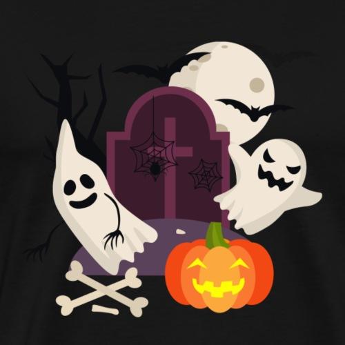 Halloween Geister und Kürbis