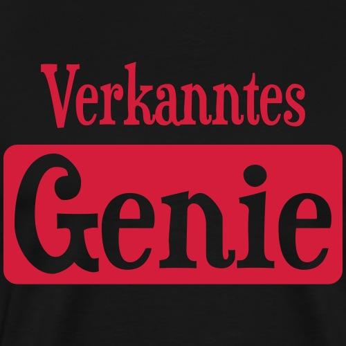 Verkanntes Genie Nerd Angeber Geek Spruch Geschenk - Männer Premium T-Shirt