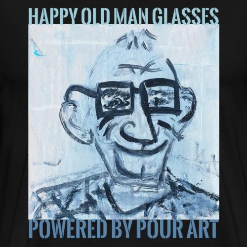 Happy old man glasses - Herre premium T-shirt