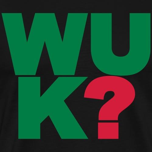 WUK? 2-kleurig - Mannen Premium T-shirt