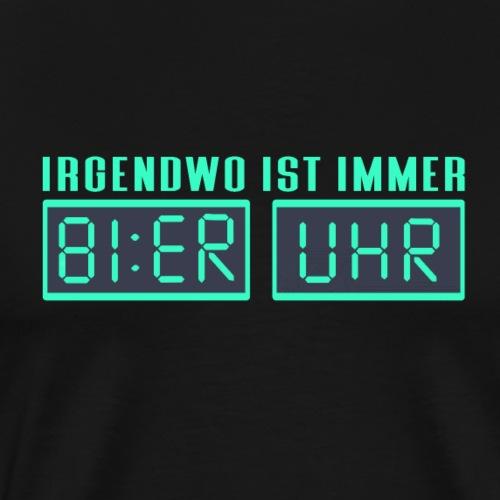 BIER UHR - Männer Premium T-Shirt