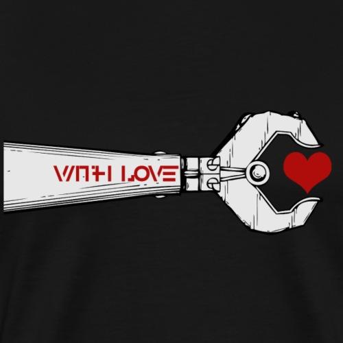 Cooles Shirt With Love Roboter Geschenkidee - Männer Premium T-Shirt