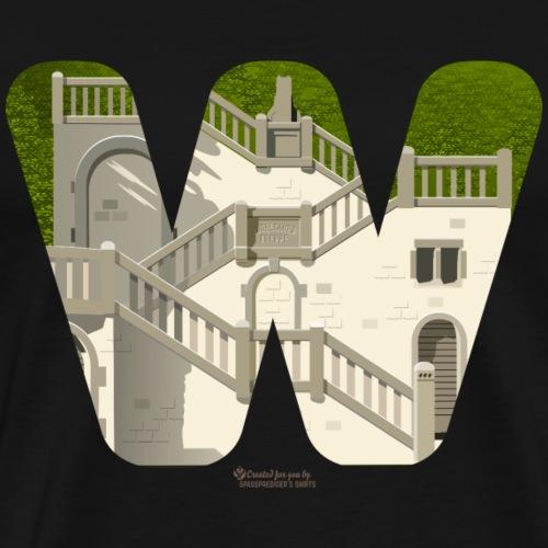 Vogelsauer Treppe | Wuppertal T-Shirts - Männer Premium T-Shirt