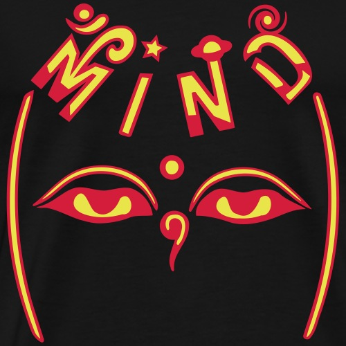 Mind of Buddha - Herre premium T-shirt