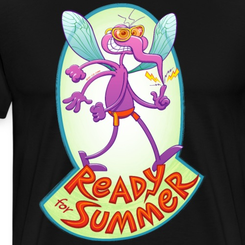 Mischievous mosquito ready to bite you in summer - Men's Premium T-Shirt