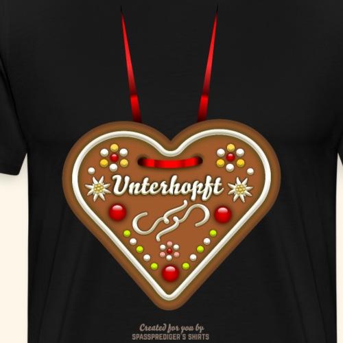 Unterhopft Lebkuchenherz - Männer Premium T-Shirt