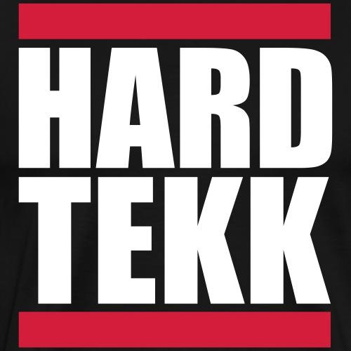 Hard Tekk Red Stripes Rote Streifen Balken - Männer Premium T-Shirt