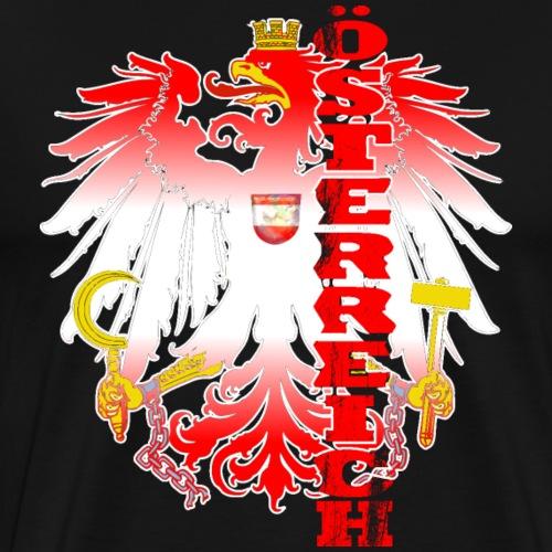 Österreich rot weiss Heimat Stolz - Männer Premium T-Shirt