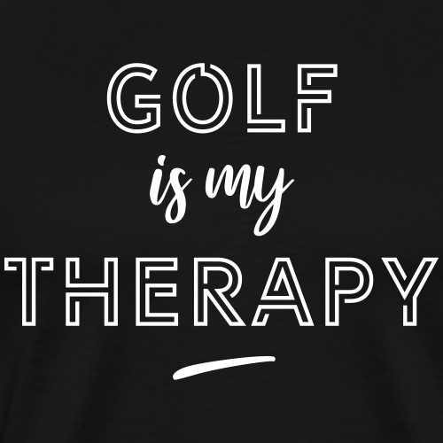 Golf is my therapy - T-shirt Premium Homme