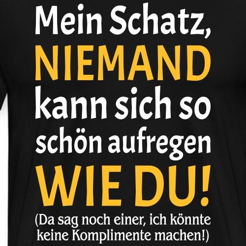 Ehe Partnerschaft Paar Spruch Mann Kompliment Frau - Männer Premium T-Shirt