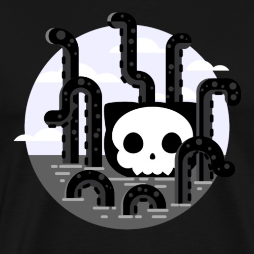 Cat octopus | Monster cat | Github | Css | Web | - Mannen Premium T-shirt