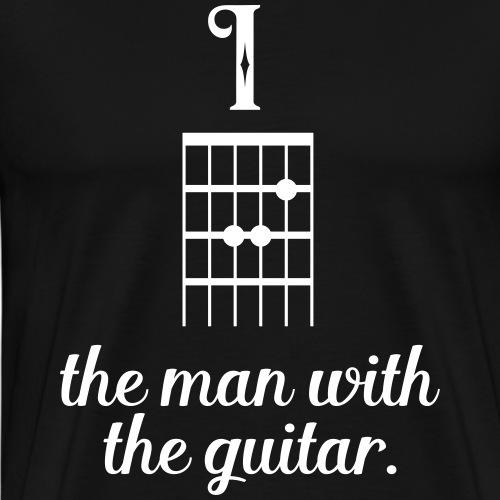 Musik Sprüche - Der Mann mit der Gitarre - Männer Premium T-Shirt