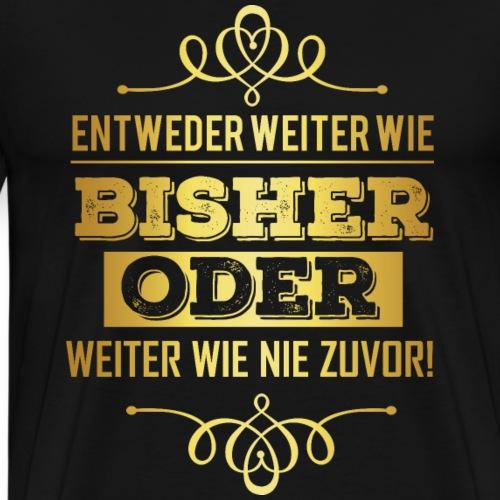 Business Geschäftsmann Geschäftsfrau - Power gold - Männer Premium T-Shirt