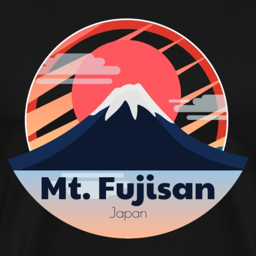Berg Fujisan Japan Sonnenuntergang Mt. Fuji - Männer Premium T-Shirt