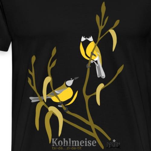 Kohlmeise - Männer Premium T-Shirt