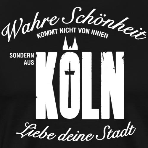 Schönheit aus Köln - Männer Premium T-Shirt