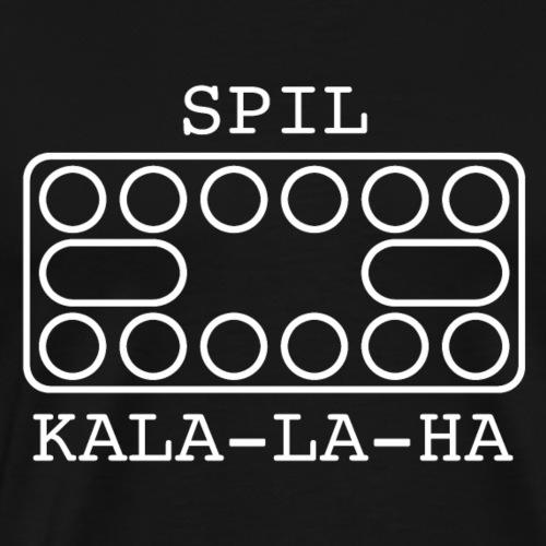 Spil kala-la-ha hvid - Herre premium T-shirt