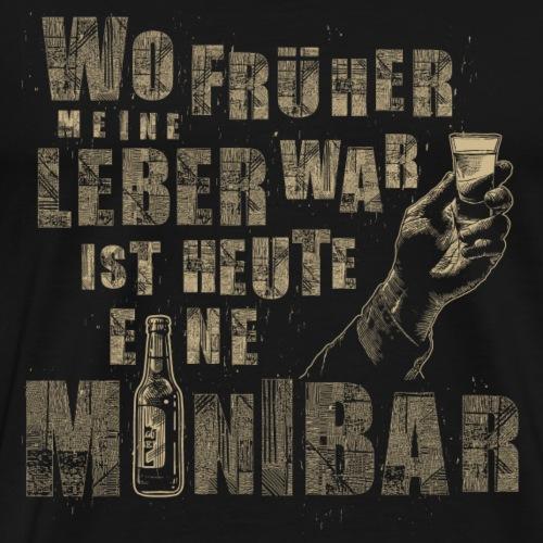 Leber Minibar - Männer Premium T-Shirt