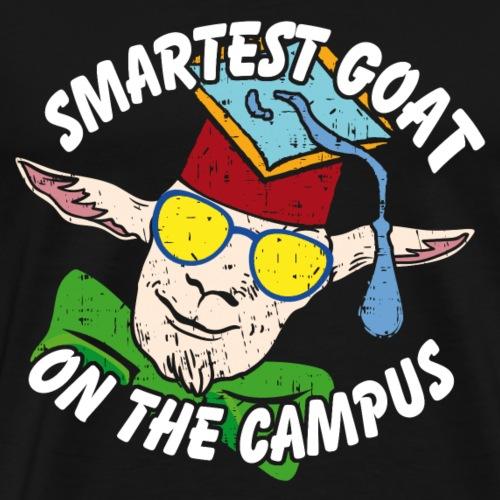 Coole Campus Ziege | Smartest Campus Goat - Männer Premium T-Shirt