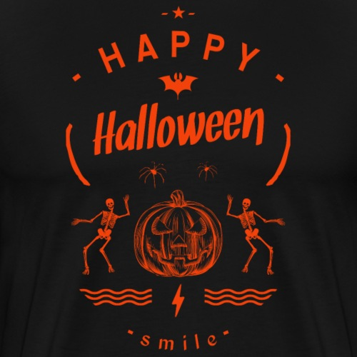 happy halloween-smile - T-shirt Premium Homme