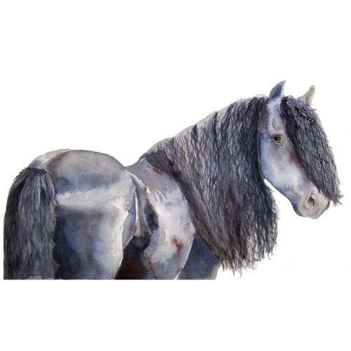 friesian horse color - Herre premium T-shirt
