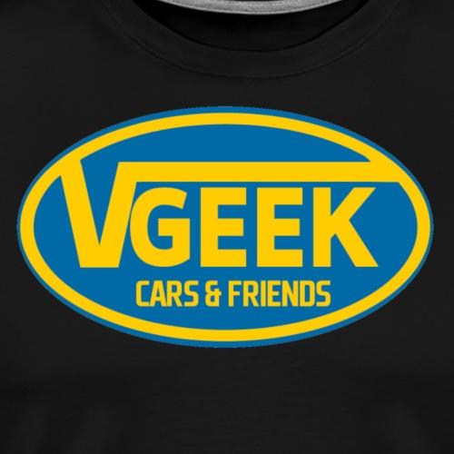 VeeGeek Cars & Friends Yellow Blue - Premium-T-shirt herr