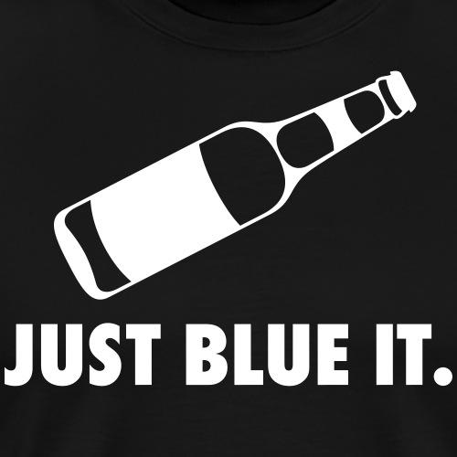 JUST BLUE IT (black) - Männer Premium T-Shirt