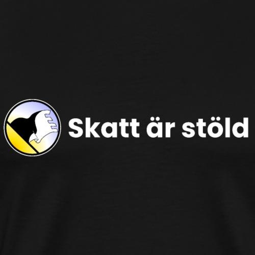 Cospaia - Skatt är stöld - dark tee - Premium-T-shirt herr