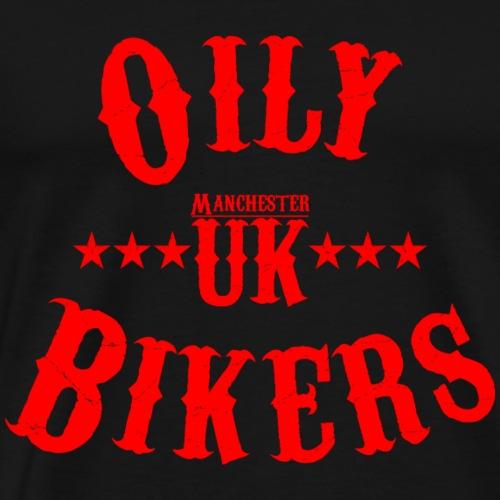 Oily Bikers Vintage - Red - Men's Premium T-Shirt