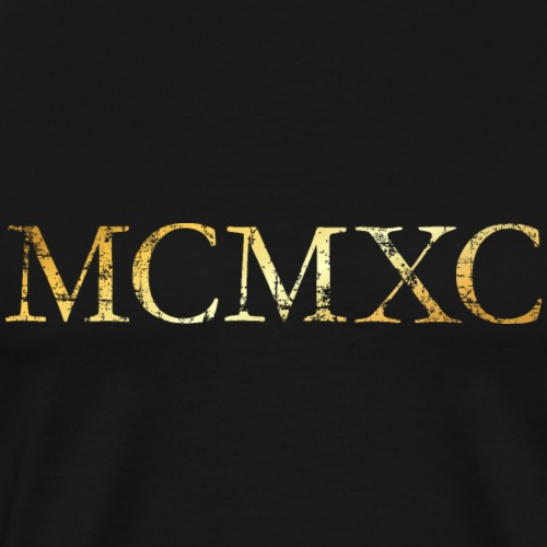 MCMXC (Vintage Goldgelb) 1990 30. Geburtstag - Männer Premium T-Shirt
