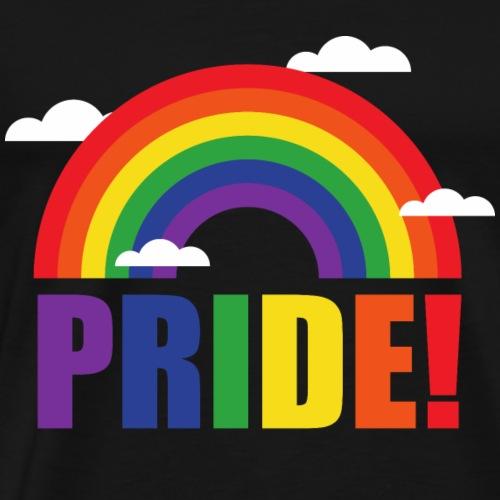Pride Regenbogen mit Wolken | LGBT | Geschenkidee - Männer Premium T-Shirt