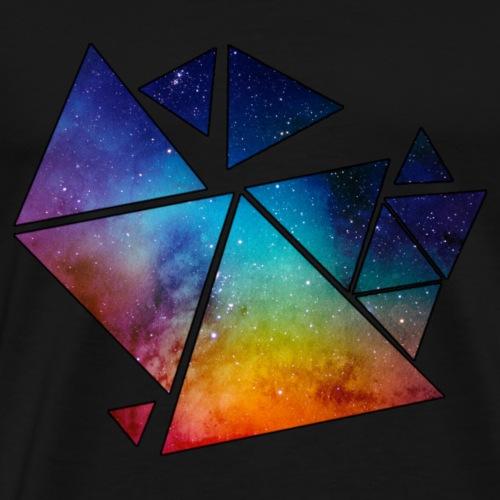 Triangles galactiques - T-shirt Premium Homme