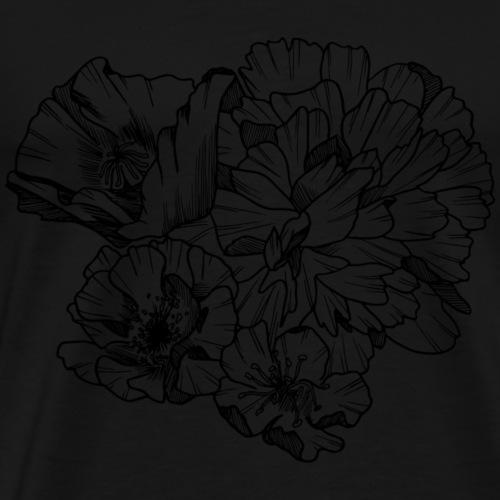 Fleurs gravées - T-shirt Premium Homme