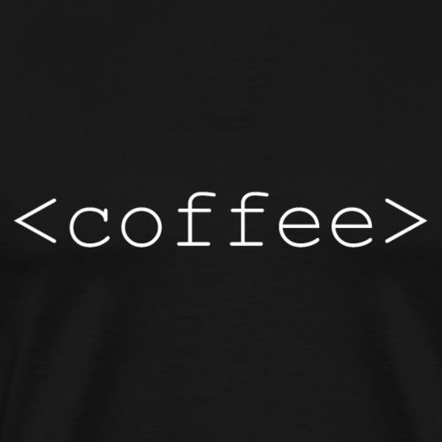 Coffee tag white - Mannen Premium T-shirt