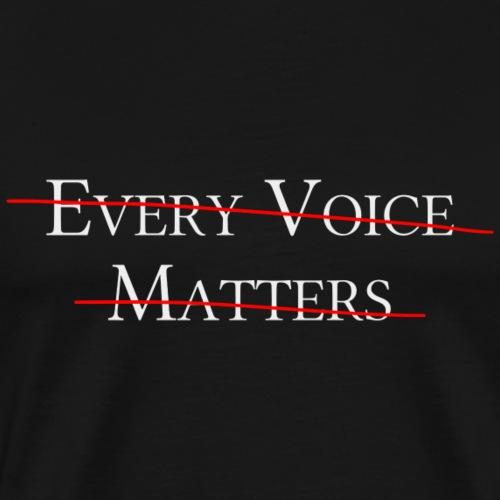 every voice matters durchgestrichen
