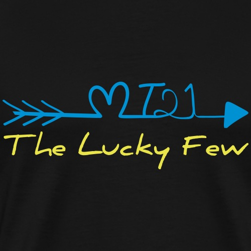 THE LUCKY FEW arrow | The colorful zebra - Men's Premium T-Shirt