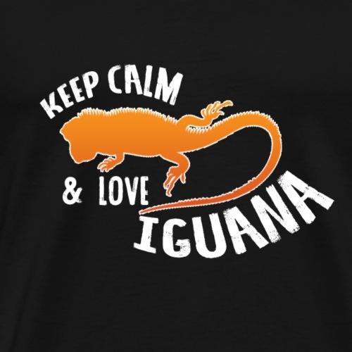 KEEP CALM & LOVE IGUANA - T-shirt Premium Homme