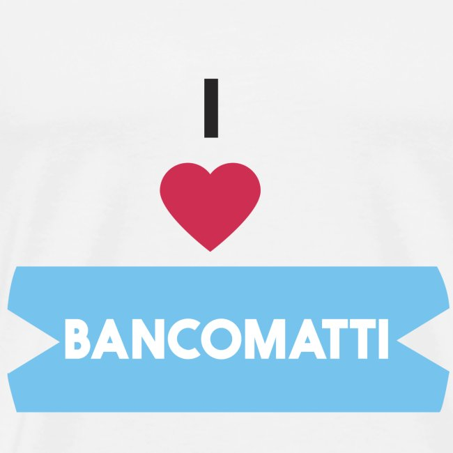 I LOVE BANCOMATTI CUOREnero