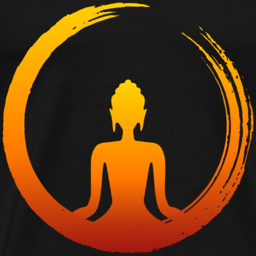 Buda Zen Fuego - Camiseta premium hombre