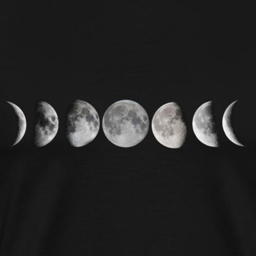 Moon phases - Camiseta premium hombre
