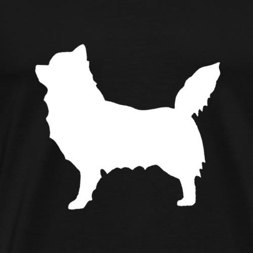 Chihuahua pitkakarva valkoinen - Miesten premium t-paita