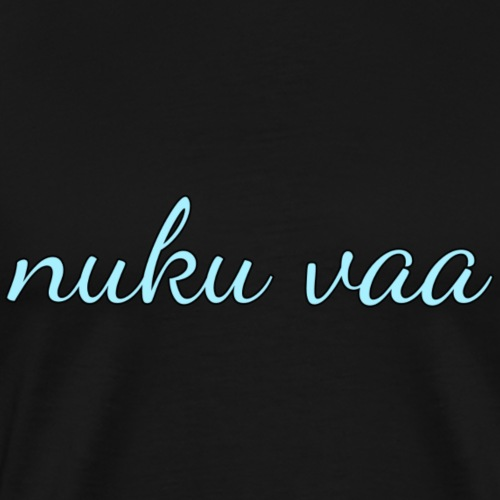 Nuku vaa - sininen - Miesten premium t-paita