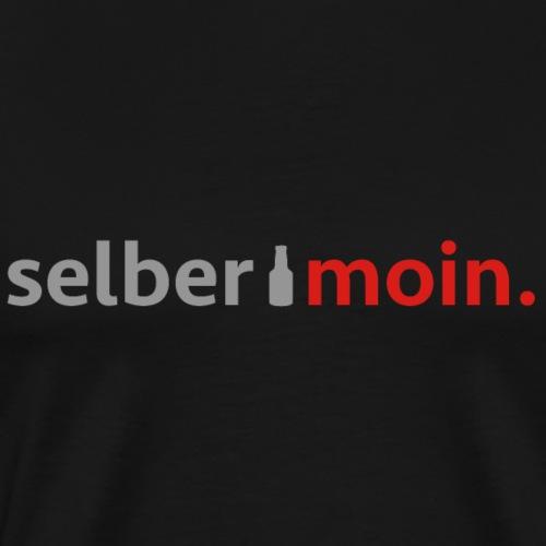 Selber moin. Mit Bierflasche in Grau / Rot - Männer Premium T-Shirt