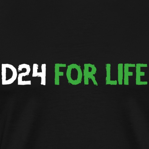 d24FORLIFENYLOGGA - Premium-T-shirt herr