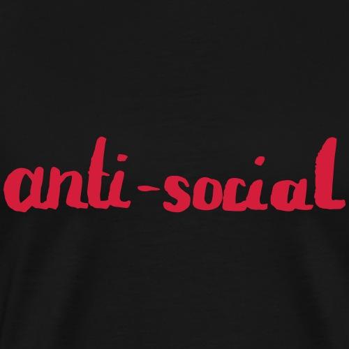 anti-social asocial énonciation drôle comme un cadeau - T-shirt Premium Homme