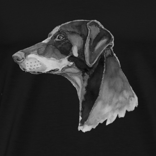doberman pincher - Herre premium T-shirt