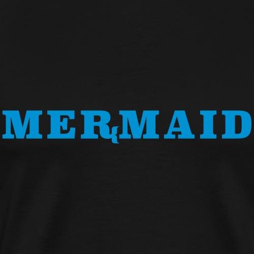 Mermaid logo - Premium-T-shirt herr