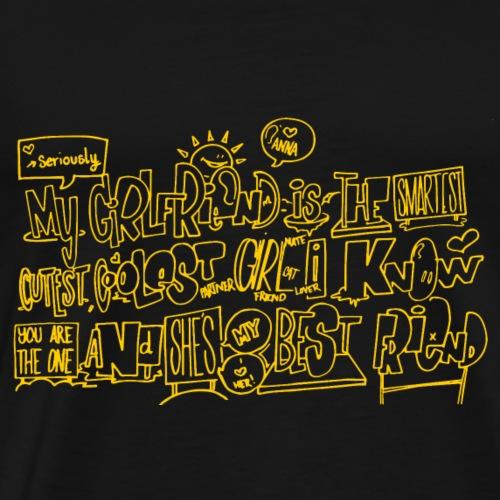 warm yellow - Herre premium T-shirt