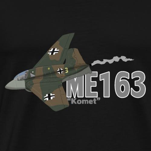 Me 163 Komet (Writing) - Maglietta Premium da uomo